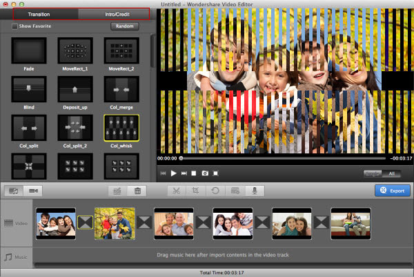 Mac Vivideo transition