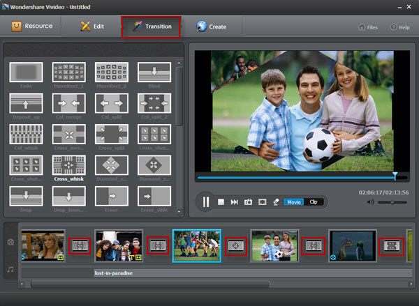 Vivideo user guide - transition