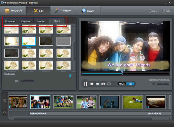 Vivideo user guide - edit photo