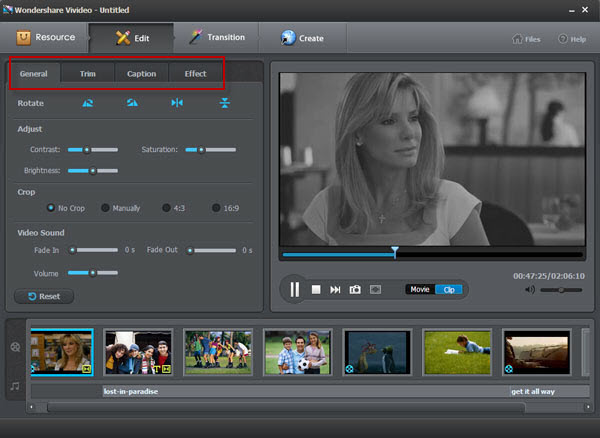 Vivideo user guide - edit video