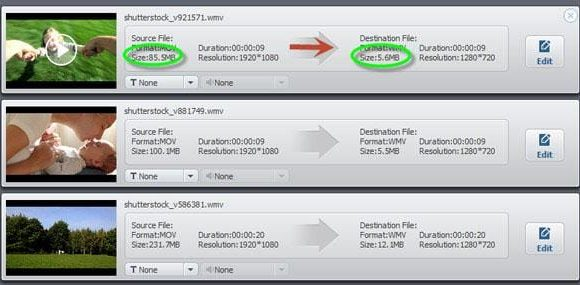 reduce size of avi file