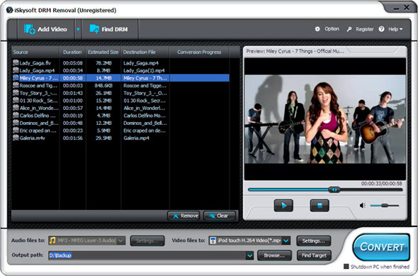 DRM removal to remove drm protection from itunes video