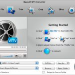 Screenshot of Bigasoft WTV Converter for Mac