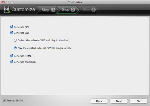 Convert Video to SWF/FLV/Animation onMac OSX.