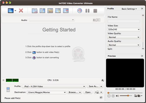 ImTOO Video Converter Ultimate per Mac