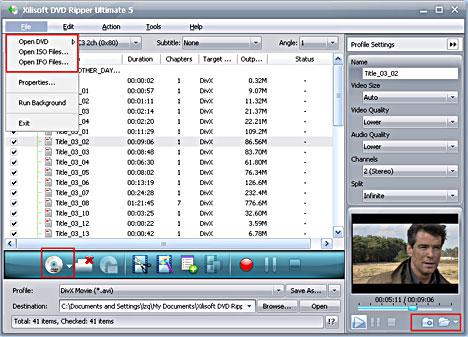 convertire DVD in DivX